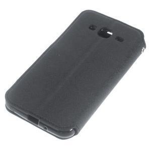 Roar PU kožené pouzdro s okýnkem na Samsung Galaxy J3 (2016) - černé - 4