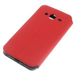 Roar PU kožené pouzdro s okýnkem na Samsung Galaxy J3 (2016) - červené - 4