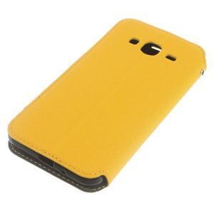 Roar PU kožené pouzdro s okýnkem na Samsung Galaxy J3 (2016) - žluté - 4