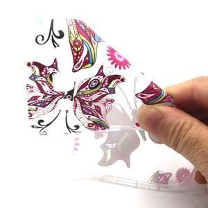 Trasnparent gelový obal na Samsung Galaxy J5 - nádherný motýl - 4
