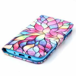 Pictu peněženkové pouzdro na Samsung Galaxy J5 - barevné lístky - 4