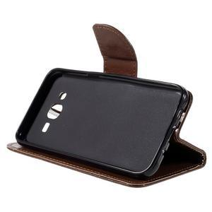 Peněženkové pouzdro na mobil Samsung Galaxy J5 - hnědé - 4