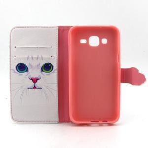 Knížkové pouzdro na mobil Samsung Galaxy J5 - kočička - 4
