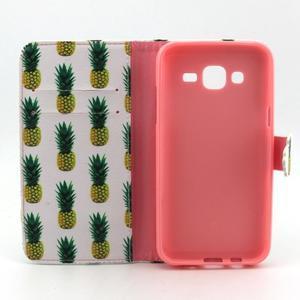 Knížkové pouzdro na mobil Samsung Galaxy J5 - ananasy - 4