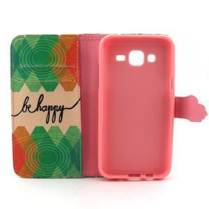 Knížkové pouzdro na mobil Samsung Galaxy J5 - be happy - 4