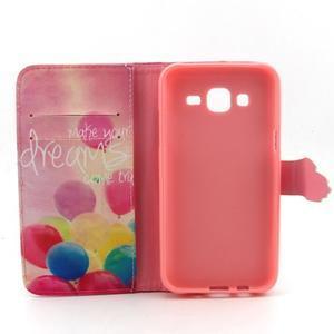 Knížkové pouzdro na mobil Samsung Galaxy J5 - balónky - 4