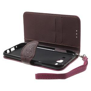 Leaf peněženkové pouzdro na Samsung Galaxy J5 - rose - 4