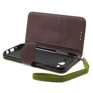 Leaf peněženkové pouzdro na Samsung Galaxy J5 - zelené - 4