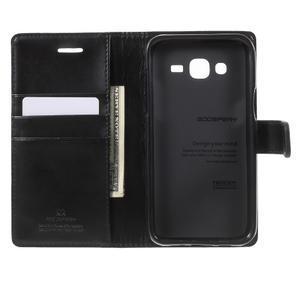 Mercury PU kožené pouzdro na mobil Samsung Galaxy J5 - černé - 4