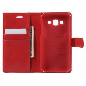 Mercury PU kožené pouzdro na mobil Samsung Galaxy J5 - červené - 4