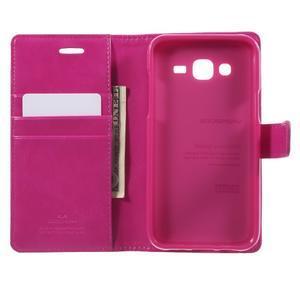 Mercury PU kožené pouzdro na mobil Samsung Galaxy J5 - rose - 4