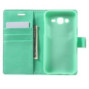 Mercury PU kožené pouzdro na mobil Samsung Galaxy J5 - azurové - 4