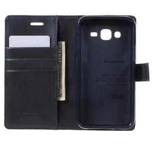 Mercury PU kožené pouzdro na mobil Samsung Galaxy J5 - tmavěmodré - 4