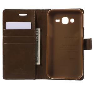 Mercury PU kožené pouzdro na mobil Samsung Galaxy J5 - hnědé - 4