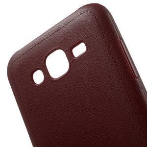 Texturový gelový obal na Samsung Galaxy J5 - vinový - 4