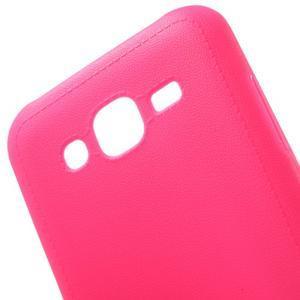 Texturový gelový obal na Samsung Galaxy J5 - rose - 4