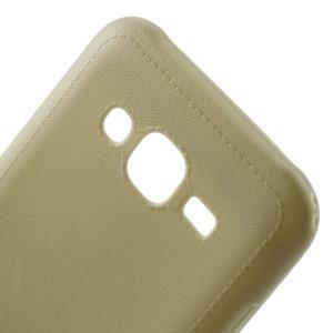 Texturový gelový obal na Samsung Galaxy J5 - béžový - 4
