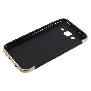 Odolný obal na mobil Samsung Galaxy J5 - zlatý - 4