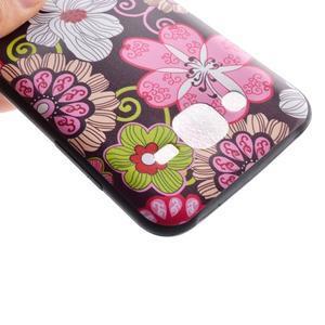 Jelly gelový obal na mobil Samsung Galaxy J5 - koláž květin - 4
