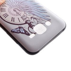 Jelly gelový obal na mobil Samsung Galaxy J5 - antické hodiny - 4