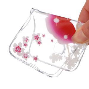 Trans gelový obal na mobil Samsung Galaxy J5 - květinovádívka - 4