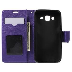 Crossy koženkové pouzdro na Samsung Galaxy J5 - fialové - 4