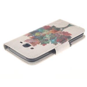 Standy peněženkové pouzdro na Samsung Galaxy J5 - barevný strom - 4