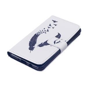Knížkové pouzdro na mobil Samsung Galaxy J5 (2016) - ptačí peříčka - 4