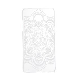 Transparentní plastový obal na Samsung Galaxy J5 (2016) - krajková květina - 4
