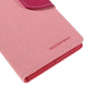Diary PU kožené pouzdro na mobil Samsung Galaxy J5 (2016) - růžové - 4