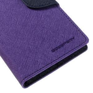 Diary PU kožené pouzdro na mobil Samsung Galaxy J5 (2016) - fialové - 4