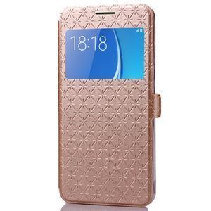 Stars pouzdro s okýnkem na mobil Samsung Galaxy J5 (2016) - zlaté - 4