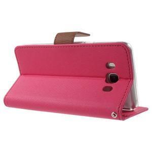 Gentle PU kožené peněženkové pouzdro na Samsung Galaxy J5 (2016) - rose - 4