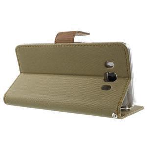 Gentle PU kožené peněženkové pouzdro na Samsung Galaxy J5 (2016) - khaki - 4