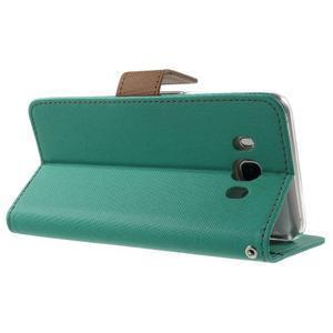 Gentle PU kožené peněženkové pouzdro na Samsung Galaxy J5 (2016) - zelenomodré - 4