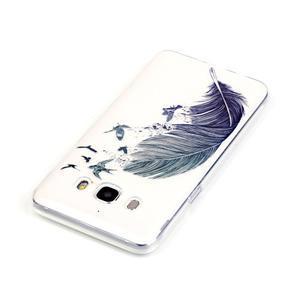 Průhledný obal na mobil Samsung Galaxy J5 (2016) - peříčko - 4