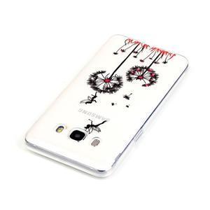 Průhledný obal na mobil Samsung Galaxy J5 (2016) - pampelišky - 4