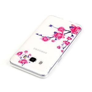 Průhledný obal na mobil Samsung Galaxy J5 (2016) - kvetoucí větvička - 4