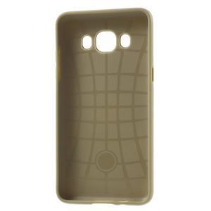 Gelový obal s plastovou výstuhou na Samsung Galaxy J5 (2016) - zlatý - 4