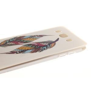 Gelový obal na mobil Samsung Galaxy J5 (2016) - barevná peříčka - 4