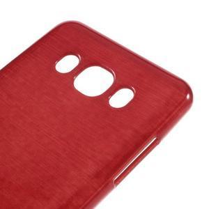 Brushed gelový obal na mobil Samsung Galaxy J5 (2016) - červený - 4
