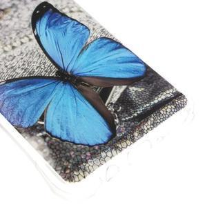 Antišok gelový obal na Samsung Galaxy J5 (2016) - modrý motýl - 4