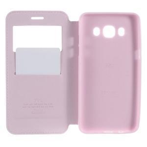 Royal pouzdro s okýnkem na Samsung Galaxy J5 (2016) - růžové - 4