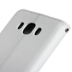 Wall PU kožené pouzdro na Samsung Galaxy J5 (2016) - bílé - 4