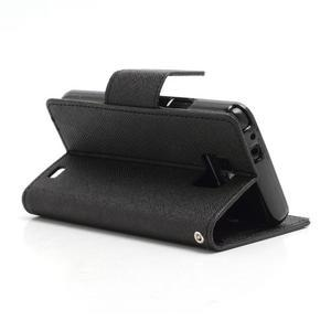 Diary PU kožené pouzdro na mobil Samsung Galaxy S2 - černé - 4