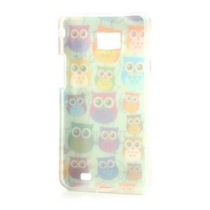Softy gelový obal na mobil Samsung Galaxy S2 - sovičky - 4