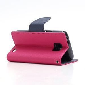 Diary PU kožené pouzdro na mobil Samsung Galaxy S2 - rose - 4