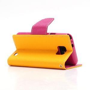 Diary PU kožené pouzdro na mobil Samsung Galaxy S2 - žluté - 4