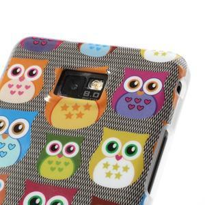 Softy gelový obal na mobil Samsung Galaxy S2 - transparentní sovičky - 4