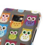 Softy gelový obal na mobil Samsung Galaxy S2 - transparentní sovičky - 4/4